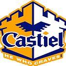 White Castiel Sticker by Ryleh-Mason