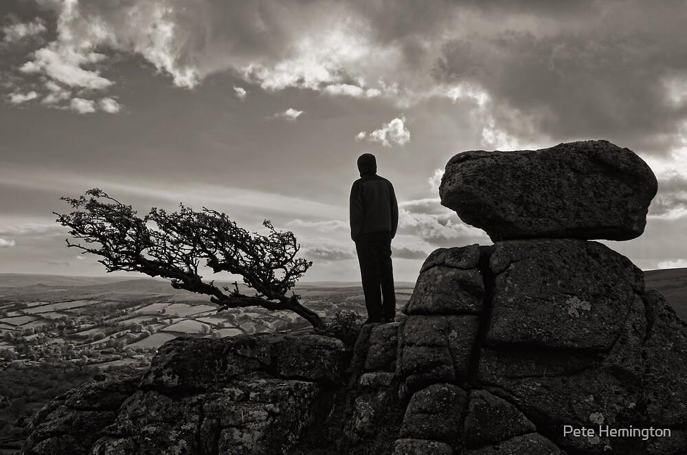 Lone figure, lone tree, loneTor  by peteton