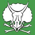 Dino Crossbones by vonplatypus