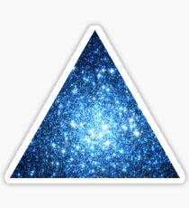 Blue Star Cluster Triangle   Fresh Universe Sticker