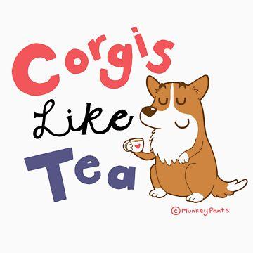 Corgis like tea by Kinkyminx