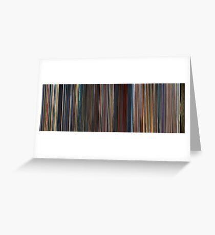 Moviebarcode: Megamind (2010) Greeting Card