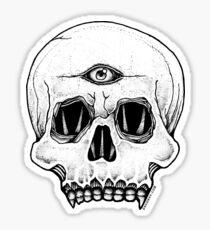 Third Eye Skull Sticker Sticker