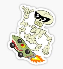Rad Skeleton Sticker