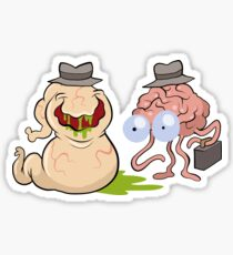 Brains and Guts Sticker