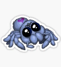 Cute Blue Spider Sticker