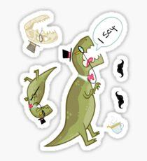 Dapper T-Rex Dino Steve Stickers Sticker