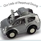 Our Lady of Perpetual Driving by Elaine Luther by ElaineLutherArt