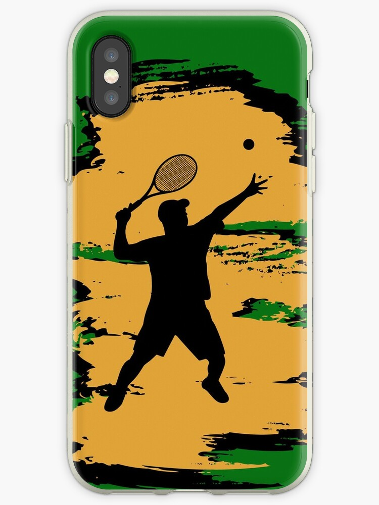 Male Tennis Player iPod / iPhone 5 Case / iPhone 4 Case  by CroDesign