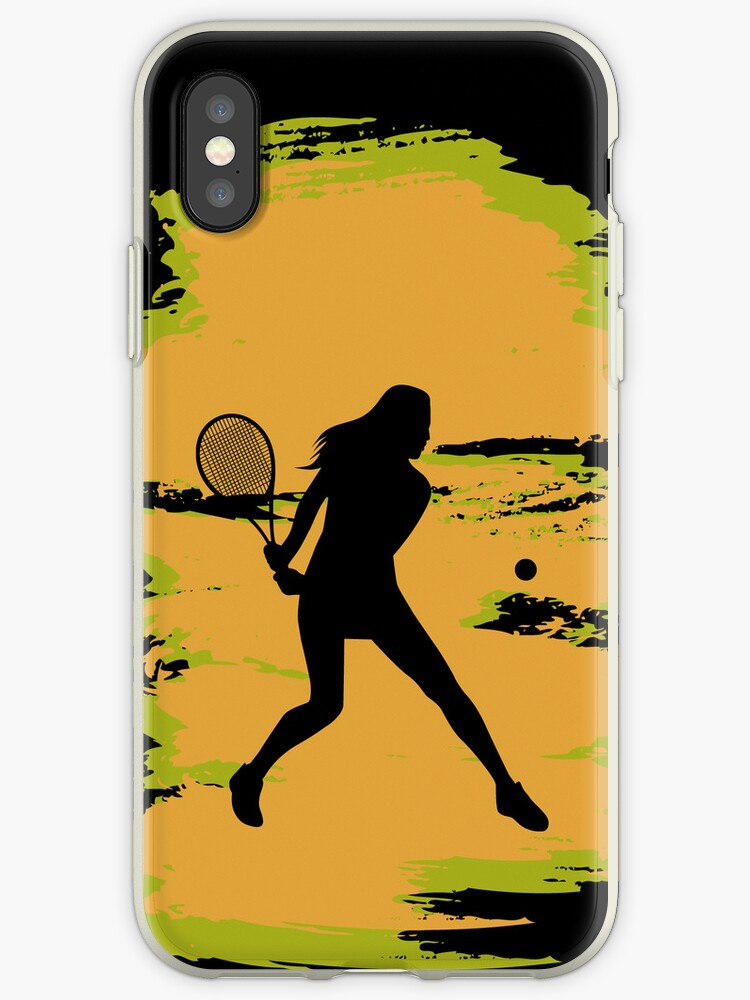 Female Tennis Player iPod / iPhone 5 Case / iPhone 4 Case  / Samsung Galaxy Cases  by CroDesign