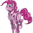 Mecha-Pinkie by derangedhyena