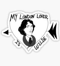 My London Lover is Oscar Wilde Sticker