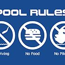Pool Rules (Sticker Version) by Rodrigo Marckezini