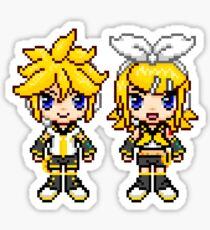 Rin & Len Pixels Sticker
