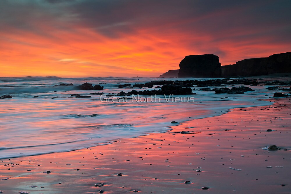 Sunrise At Marsden by Great North Views