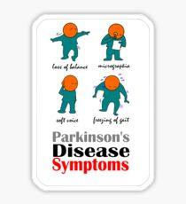 Parkinson's Disease Symptoms Sticker