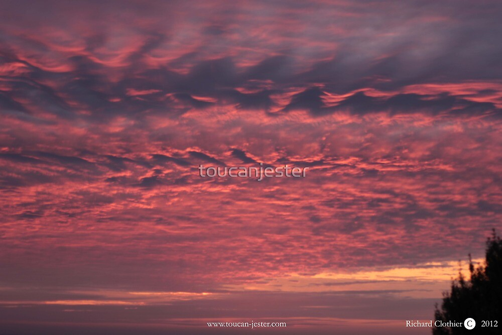 Sunset cloud formation at Lizard Point, Cornwall by toucanjester