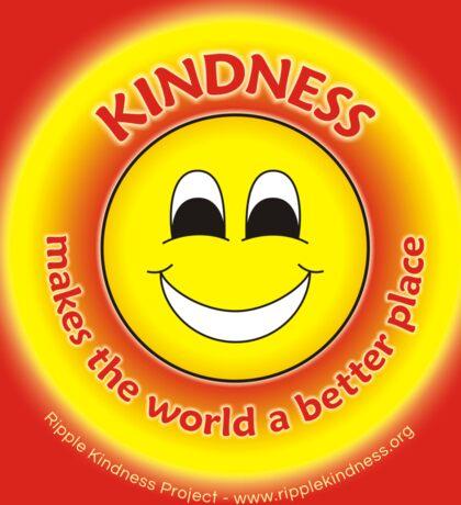 Kindness Makes The World a Better Place - Yellow Sticker Sticker
