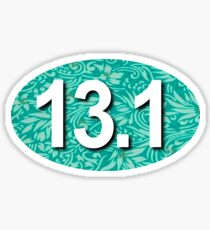 13.1 Oval Sticker - Tropical Teal Sticker