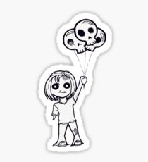 """""""Cute Zombie with Skulloons"""" Sticker"""