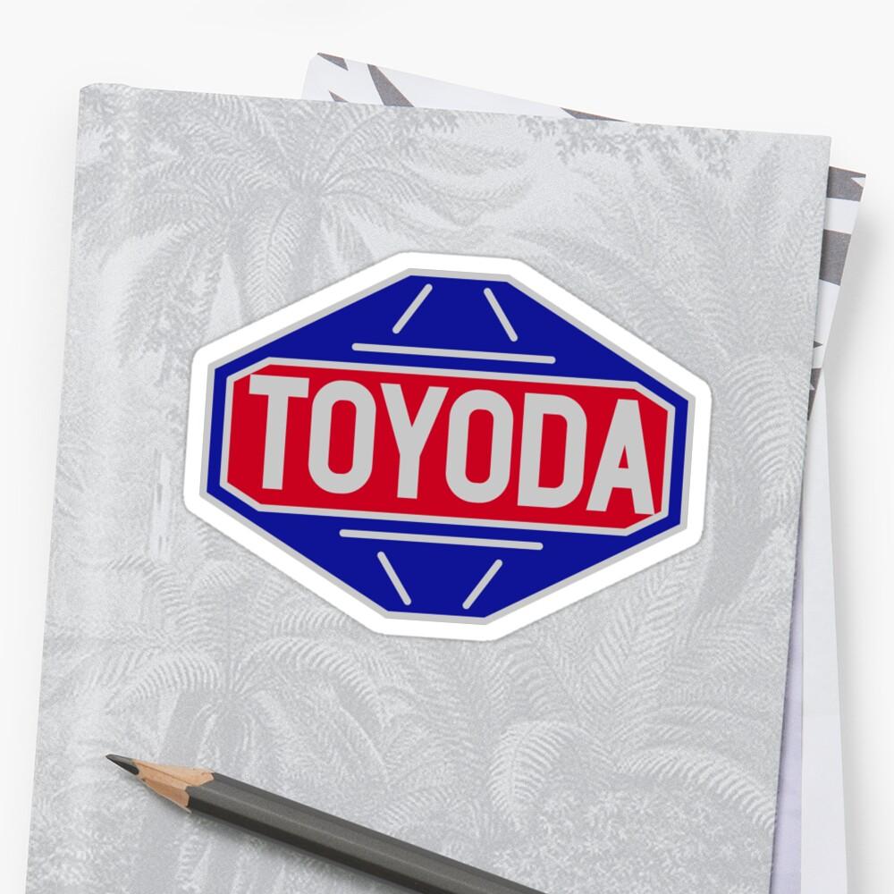 """""""Original Toyota logo - 'Toyoda' Sticker"""" Stickers by ..."""