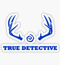True Detective - Antlers - Blue Sticker
