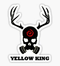 True Detective - Yellow King Gas Mask - Black Sticker