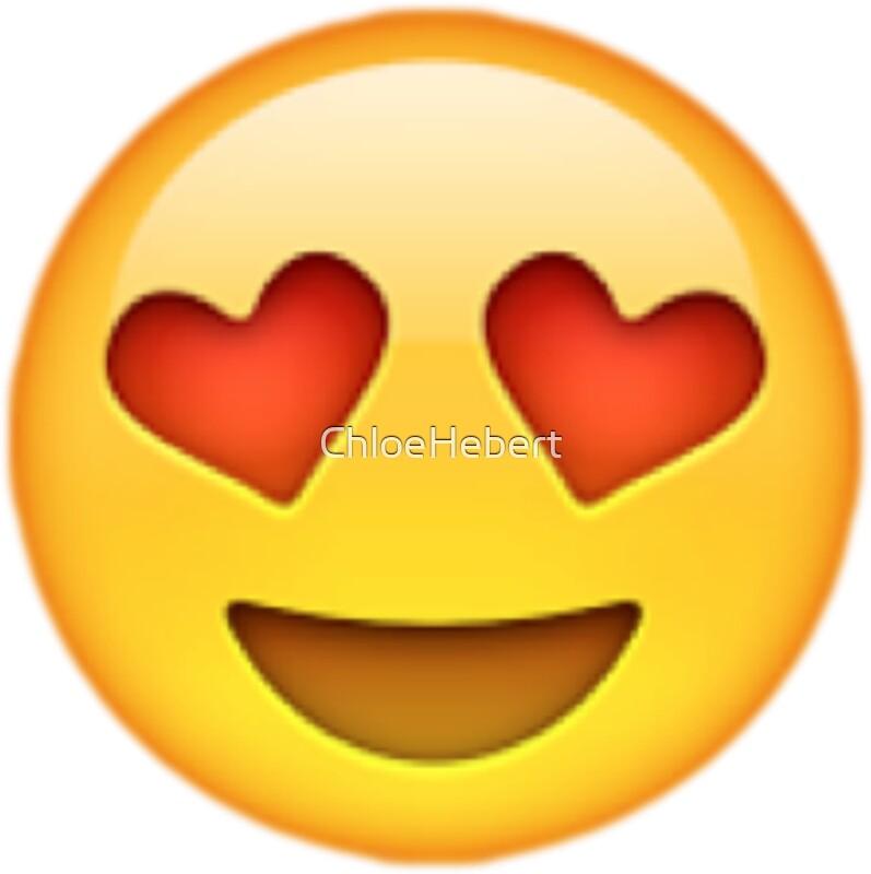 Heart Eyes Smiley Sticker