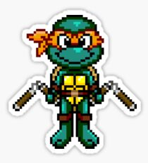 TMNT Michelangelo Pixel Sticker