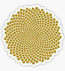 Sunflower Seed Fibonacci Spiral Golden Ratio Math Mathematics Geometry Sticker