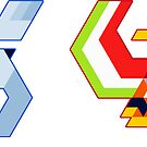 Trixel Lugia & Ho-oh by etall