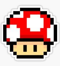 Red Mario Mushroom Sticker