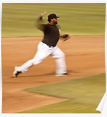 Pablo Sandoval in Motion.. Throwing to First Base Poster