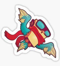 Robo Owl Sticker