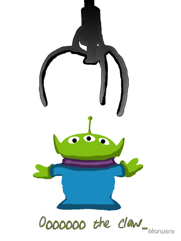 """""""Toy Story Alien Claw"""" Stickers by Morware 