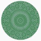 small green chakra mosaic circle girly by offpeaktraveler