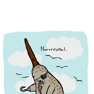 Narrrwhal Colored by Thur