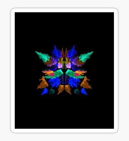 Neon Rorschach I Sticker