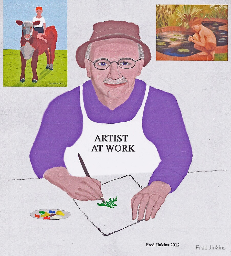 Artist At Work by Fred Jinkins