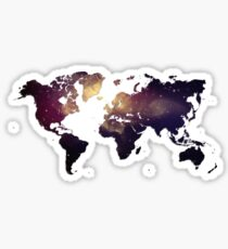 Galaxy World Map Sticker