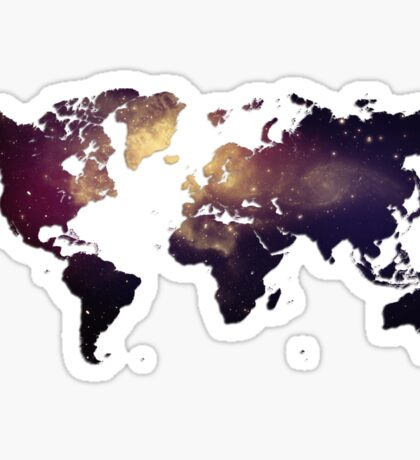 Galaxy World Map Sticker