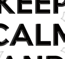 Keep Calm and Carry 2nd Amendment Shirt and Sticker Sticker