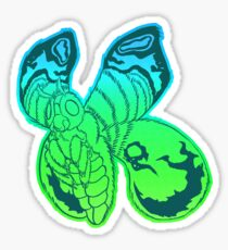 Green Moth Sticker