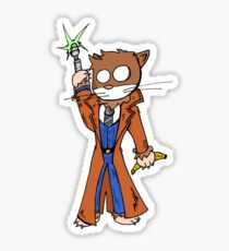 Doctor cat Sticker