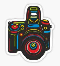 Black Camera Sticker