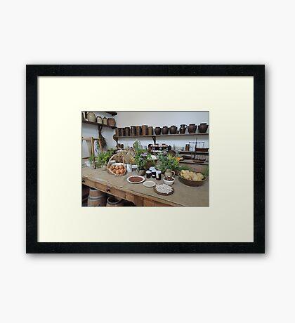 1800s Kitchen Framed Print