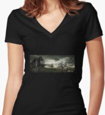 Bates Motel Women's Fitted V-Neck T-Shirt