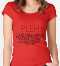 PLEH Women's Fitted Scoop T-Shirt