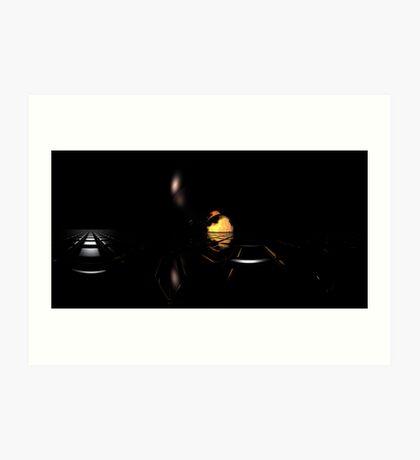 Darkness Borrows Light Art Print