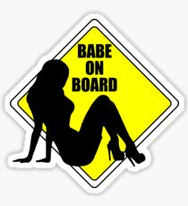 Babe on Board Sticker